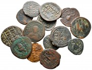 Lot of ca. 15 byzantine bronze coins / SOLD AS SEEN, NO RETURN!nearly very fine