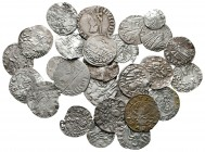 Lot of ca. 28 medieval silver coins / SOLD AS SEEN, NO RETURN!very fine