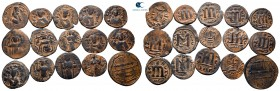 Lot of ca. 15 arab-byzantine bronze coins / SOLD AS SEEN, NO RETURN! very fine