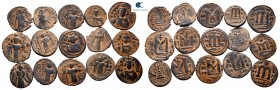 Lot of ca. 15 arab-byzantine bronze coins / SOLD AS SEEN, NO RETURN!very fine