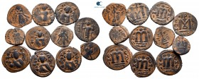 Lot of ca. 12 arab-byzantine bronze coins / SOLD AS SEEN, NO RETURN!very fine