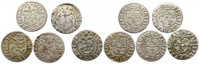 Sigismund III, Lot of 1,5 groschen 1623-1624