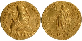 Gold Dinar Coin of Vima Kadphises of Kushan Dynasty.