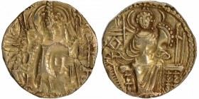 Gold Dinar Coin of Kipanada of Later Kushan Dynasty.
