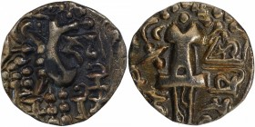 Debased Gold Dinar Coin of Vinayaditya of Kidara of Kashmir.