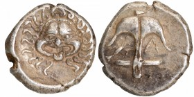 Silver Drachma Coin of Apollonia Pontika of Thrace of Greeks.