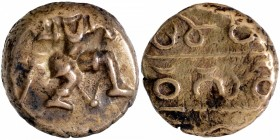 Gold Varaha Coin of Hari Hara I of Sangama Dynasty of Vijayanagara Empire.