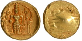 Gold Varaha Coin of Venkatapathiraya II of Aravidu Dynasty of Vijayanagara Empire.