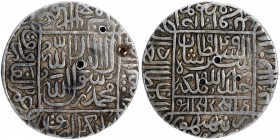 Silver One Rupee Coin of Sher Shah Suri of Ranthambhor Mint of Suri Dynasty of Delhi Sultanate.