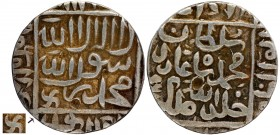 Silver One Rupee Coin of Muhammad Adil Shah of Agra Mint of Suri Dynasty of Delhi Sultanate.