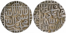 Silver One Rupee Coin of Muhammad Adil Shah of Narnol Mint of Suri Dynasty of Delhi Sultanate.