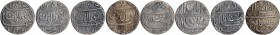 Lot of Four Silver One Rupee Coins of Jahangir of Ahmadabad Mint of Different Months.
