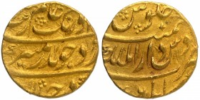 Gold Mohur Coin of Aurangzeb Alamgir of Kabul Dar ul Mulk Mint.