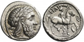 Eastern Celts in the Danube region and Balkans. Tetradrachm imitating late Philip II issue 3rd-1st century BC, AR 12.75 g. Laureate head of Zeus r. Re...