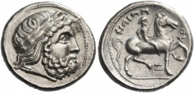 Eastern Celts in the Danube region and Balkans. Tetradrachm imitating late Philip II issue 3rd-1st century BC, AR 13.73 g. Laureate head of Zeus r. Re...