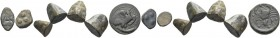 Agrigentum. Lot of three cast trias and one cast hexas circa 450-430 BC, Calciati 1 (Æ 13.26 g.); Calciati 6 (Æ 11.80 g. ); Calciati 6 (Æ 10.84); Calc...