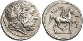 Kings of Macedonia, Philip II 359 – 336 and posthumous issues. Tetradrachm, Amphipolis, circa 323-315, AR 14.26 g. Laureate head of Zeus r. Rev. Naked...