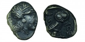 Attica, Athens, Tetradrachm, ca. 454-404 BC. 