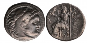 Kings of Macedon. Alexander III, the Great (336-323 BC). Drachm AR Condition: Very Good 4 gr. 17.5 mm.