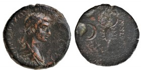 KINGS OF COMMAGENE. Antiochos IV Epiphanes, with Iotape, AD 38-40 and 41-72. Oktachalkon late series with bevelled edge, Samosata, c. 54-65. ΒΑΣΙΛEYΣ ...