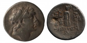 Kings of Cappadocia. Eusebeia-Mazaka. Ariarathes V Eusebes Philopator 163-130 BC. Drachm AR, Diademed head of Ariarathes to right / BAΣΙΛΕΩΣ APIAPAΘOY...