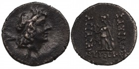 Kings of Cappadocia. Eusebeia-Mazaka. Ariarathes IX Eusebes Philopator 101-87 BC. Dated RY 4 = 97/6 BC Drachm Diademed head right / BAΣΙΛΕΩΣ APIAPAΘOV...