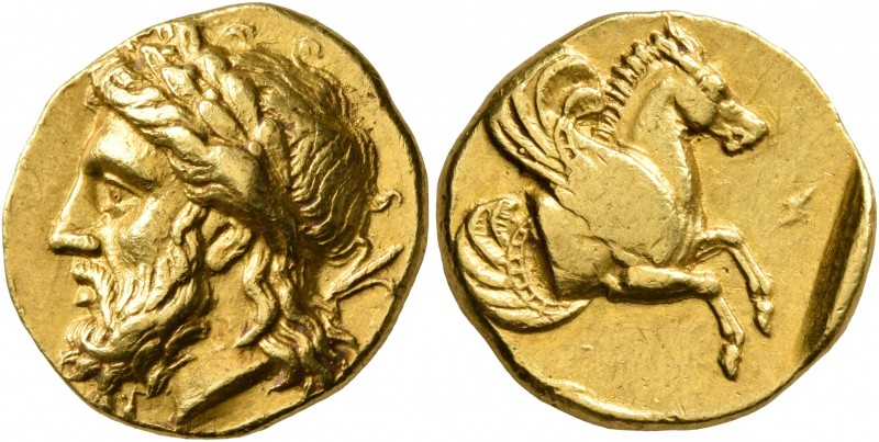MYSIA. Lampsakos. Circa 350 BC. Stater (Gold, 17 mm, 7.90 g, 3 h), reduced Persi...