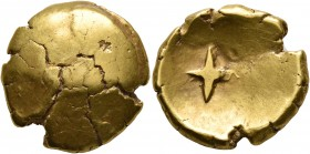 CELTIC, Central Europe. Vindelici. 1st century BC. Stater (Gold, 18 mm, 7.52 g), 'Stern' type. Convex surface with faint traces of a bulge. Rev. Large...