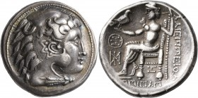 CELTIC, Lower Danube. Uncertain tribe. 3rd century BC. Tetradrachm (Silver, 27 mm, 16.65 g, 11 h), imitating Alexander III and Philip III of Macedon. ...