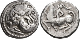 CELTIC, Lower Danube (?). Uncertain tribe. 3rd to 2nd centuries BC. Tetradrachm (Silver, 25 mm, 12.62 g, 2 h), imitating Philip II of Macedon. Celtici...