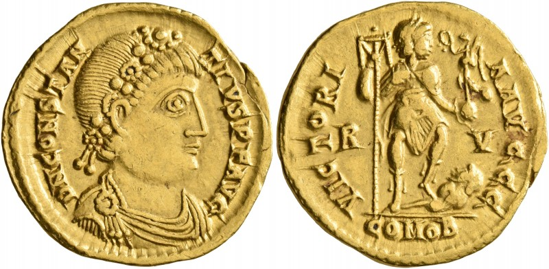 Constantius III, 421. Solidus (Gold, 21 mm, 4.43 g, 7 h), Ravenna, 8 February-2 ...