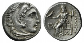 Kings of Macedon, Philip III Arrhidaios (323-317 BC). AR Drachm (16mm, 4.01g, 11h). In the name and types of Alexander III. Kolophon, c. 322-319 BC. H...