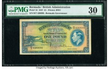 Bermuda Bermuda Government 1 Pound 17.2.1947 Pick 16 PMG Very Fine 30.   HID09801242017  © 2020 Heritage Auctions | All Rights Reserved