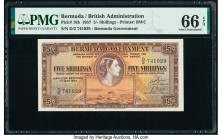 Bermuda Bermuda Government 5 Shillings 1.5.1957 Pick 18b PMG Gem Uncirculated 66 EPQ.   HID09801242017  © 2020 Heritage Auctions | All Rights Reserved...