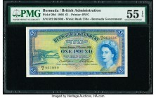 Bermuda Bermuda Government 1 Pound 1.10.1966 Pick 20d PMG About Uncirculated 55 EPQ.   HID09801242017  © 2020 Heritage Auctions | All Rights Reserved