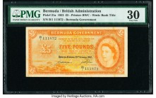 Bermuda Bermuda Government 5 Pounds 20.10.1952 Pick 21a PMG Very Fine 30.   HID09801242017  © 2020 Heritage Auctions | All Rights Reserved