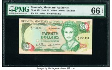 Bermuda Monetary Authority 20 Dollars 20.2.1989 Pick 37b PMG Gem Uncirculated 66 EPQ.   HID09801242017  © 2020 Heritage Auctions | All Rights Reserved...