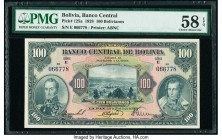 Bolivia Banco Central 100 Bolivianos 20.7.1928 Pick 125a PMG Choice About Unc 58 EPQ.   HID09801242017  © 2020 Heritage Auctions | All Rights Reserved...