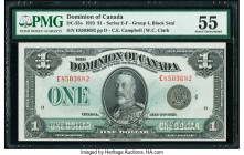 Canada Dominion of Canada $1 2.7.1923 Pick 33o DC-25o PMG About Uncirculated 55.   HID09801242017  © 2020 Heritage Auctions | All Rights Reserved