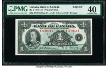Canada Bank of Canada $1 1935 Pick 38 BC-1 English PMG Extremely Fine 40.   HID09801242017  © 2020 Heritage Auctions | All Rights Reserved