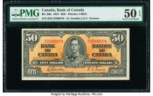 Canada Bank of Canada $50 2.1.1937 Pick 63b BC-26b PMG About Uncirculated 50 EPQ.   HID09801242017  © 2020 Heritage Auctions | All Rights Reserved