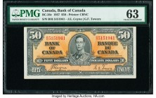 Canada Bank of Canada $50 2.1.1937 Pick 63c BC-26c PMG Choice Uncirculated 63.   HID09801242017  © 2020 Heritage Auctions | All Rights Reserved