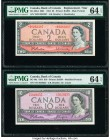 Canada Bank of Canada $2; 10 1954 BC-38bA; BC-40a Two Examples Issued; Replacement PMG Choice Uncirculated 64 EPQ (2).   HID09801242017  © 2020 Herita...