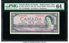 Canada Bank of Canada $10 1954 BC-40bA Replacement with U/T Prefix PMG Choice Uncirculated 64.   HID09801242017  © 2020 Heritage Auctions | All Rights...