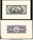 Ecuador Banco Central del Ecuador 100 Sucres 1928-36 Pick 88p Front and Back Proofs Uncirculated. Mounted on cardstock.   HID09801242017  © 2020 Herit...