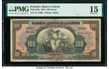 Ecuador Banco Central del Ecuador 100 Sucres 7.9.1944 Pick 95b PMG Choice Fine 15.   HID09801242017  © 2020 Heritage Auctions | All Rights Reserved