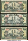 Ecuador Banco Central del Ecuador 1000 Sucres 30.10.1972 (2); 20.9.1973 Pick 107 Three Examples Fine-Very Fine. Annotations on two examples.  HID09801...