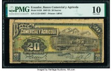Ecuador Banco Comercial y Agricola 20 Sucres 1.9.1920 Pick S129 PMG Very Good 10.   HID09801242017  © 2020 Heritage Auctions | All Rights Reserved