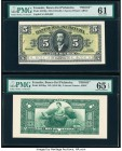 Ecuador Banco del Pichincha 5 Sucres ND (1912-20) Pick S223fp; S223bp Front and Back Proofs PMG Uncirculated 61; Gem Uncirculated 65 EPQ.   HID0980124...