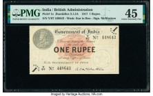 India Government of India 1 Rupee 1917 Pick 1e Jhun3.1.2A PMG Choice Extremely Fine 45.   HID09801242017  © 2020 Heritage Auctions | All Rights Reserv...